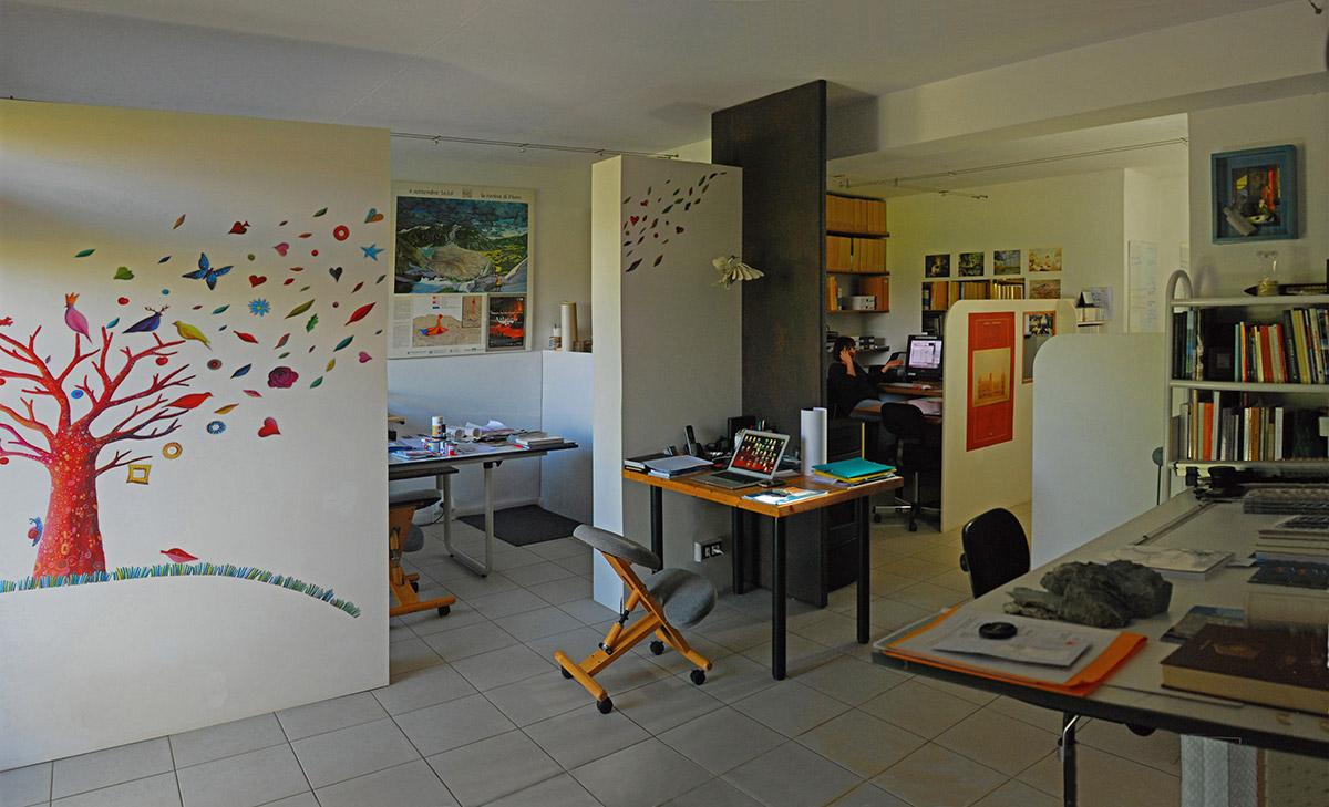 Interno della sede di Castelletti Grafica Immagine